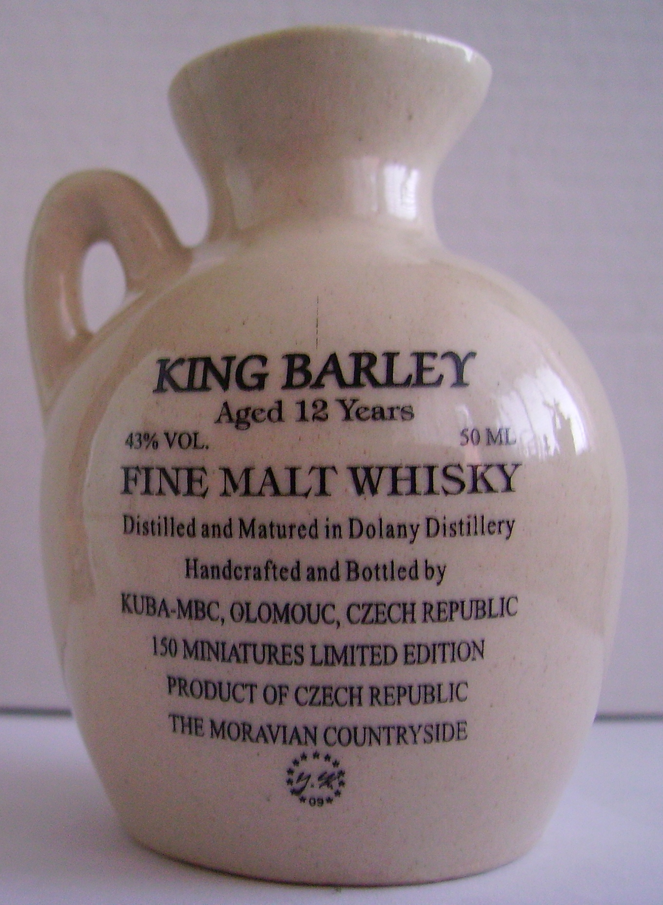 30th Anniversary Midwest Miniature Bottle Club Jug – Back side